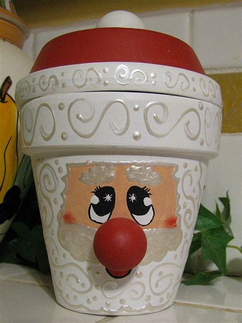 flower pot santa clay pot crafts pinterest