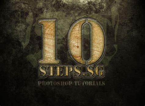 photoshop tutorial logo in wood 40 cool photoshop logo design tutorials