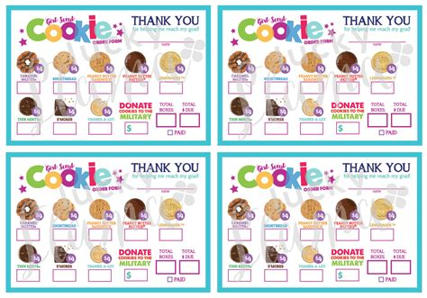 printable order forms for girl scout cookies 2017 mini girl scout cookie order form printable