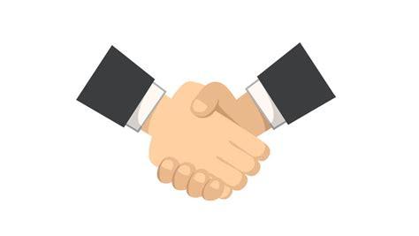 Business Partnership Agreement Template handshake animation line icon stock footage video 11787650