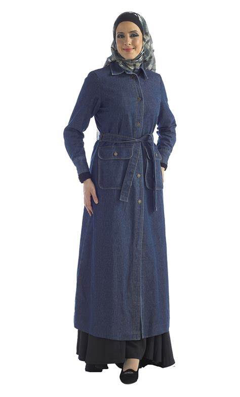 Jilbab Bergo Pocket Jumbo Uk belted denim jilbab