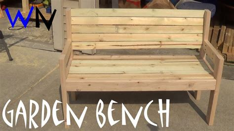 building  garden bench steves design youtube