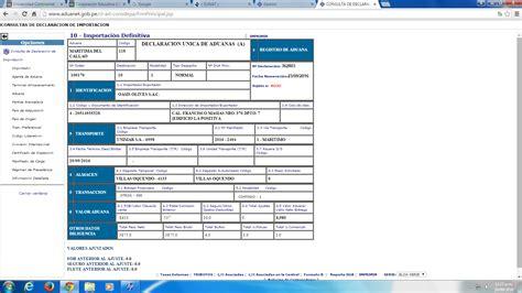 consulta de manifiestos de ingreso sunat dam dam antes dua