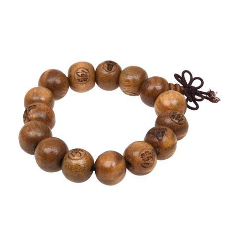 wooden mala buddhist brown wooden carved prayer wrist mala