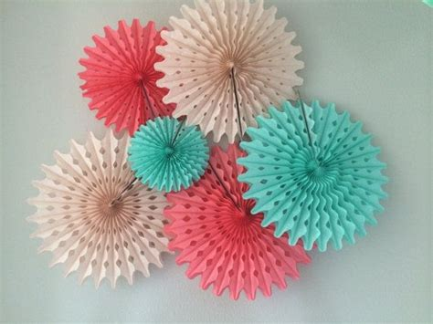How To Make Tissue Paper Fans - tissue paper fans 5 pom wheels dessert cocktail by