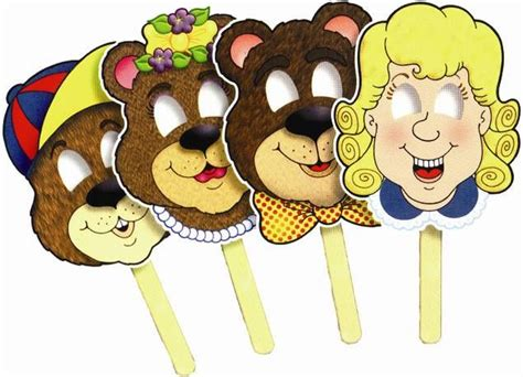 printable masks for goldilocks and the three bears goldilocks and the three bears porridge google search