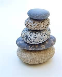 beach stones photo 5x7 signed print zen stacked by