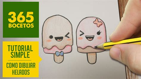 tutorial beatbox facil como dibujar paletas heladas kawaii paso a paso dibujos