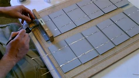 how to build a solar array how to make a solar panel wiring soldering and cell doovi