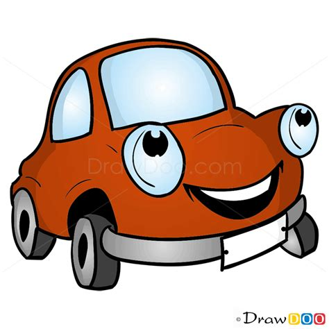 Auto Zeichentrick by How To Draw Happy Car Cars