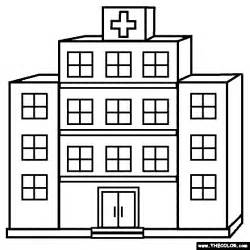 Black And White Hospital Clipart Clipart Kid 3 Station Coloring Page