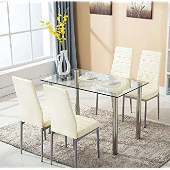 Glass Dining Table Chairs Sets Furniture Choice Within For