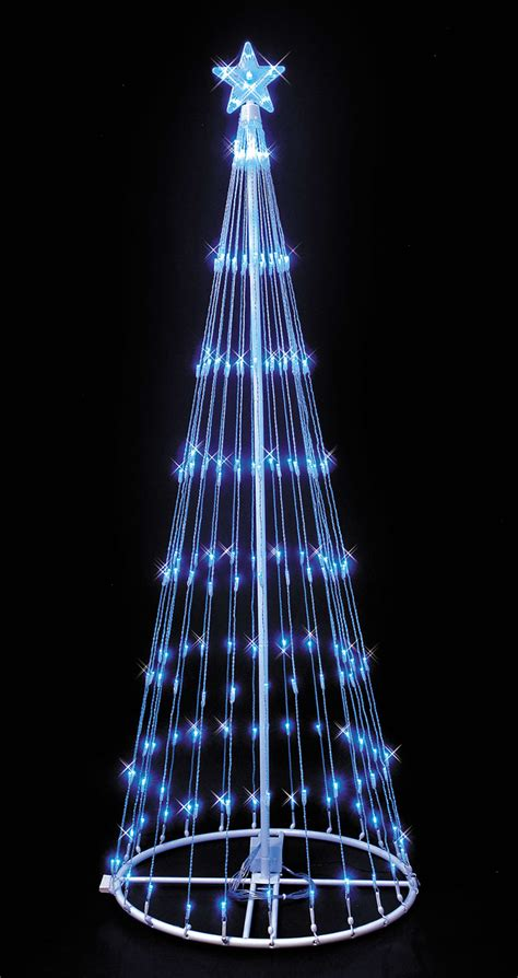 blue led lightshow tree