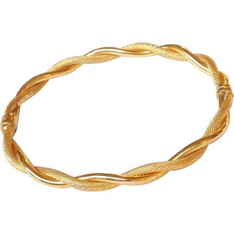 gold bangle bracelet italian 14 karat from