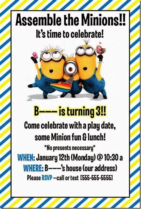 invite christmas minion best 25 minion invitations ideas on