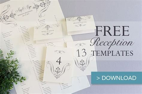 place card template free premium templates