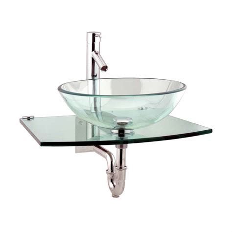 wall mount glass sink unique clear durable wall mount tempered glass vessel sink