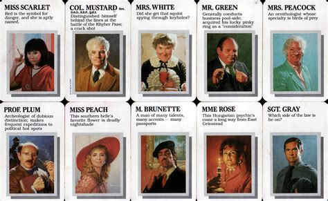 Search Names Cluedo Characters Names Search Safo