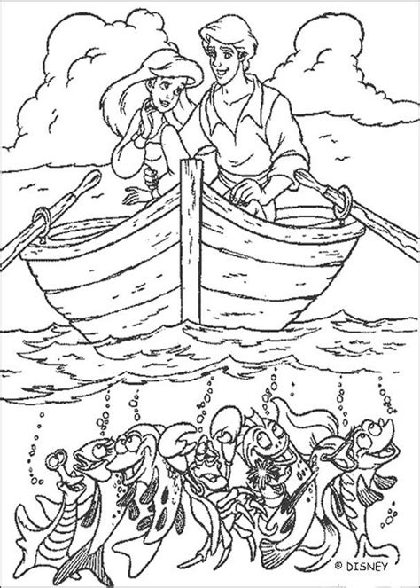 the little mermaid coloring pages ariel and prince eric