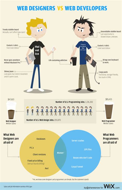 Web Designers vs. Web Developers   Visual.ly