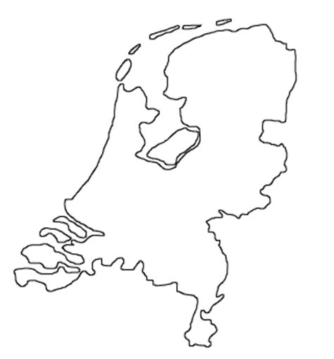 netherlands map outline blank map of netherlands outline map of netherlands