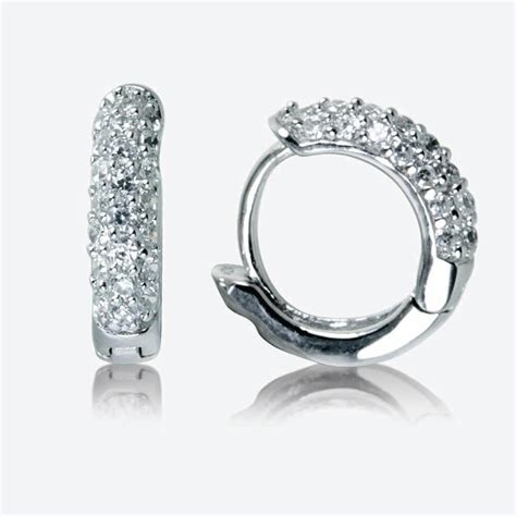 Sterling Silver Earring the sterling silver diamonflash cubic zirconia