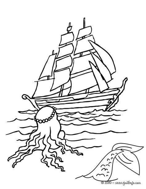 barcos para colorear en linea dibujos para colorear una sirena y un barco es hellokids