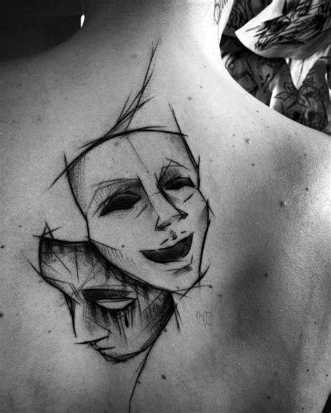 theater mask tattoo designs 60 drama mask designs for theatre ink ideas