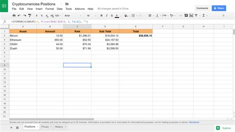 Live Spreadsheet by 28 Investment Tracking Spreadsheet Cryptocurrency