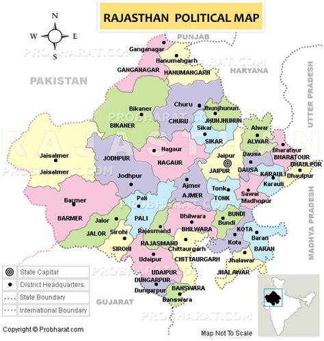 Rajasthan..Rajasthan Map..Map of Rajasthan, India