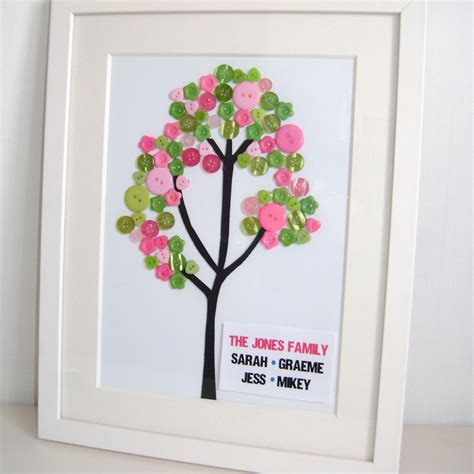 button art family tree sayitframes co uk button crafts