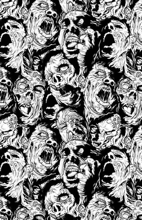 pattern zombie zombie recurring pattern zombies pinterest
