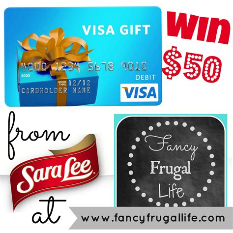 Give A Visa Gift Card - win a 50 visa gift card sponsored by sara lee desserts