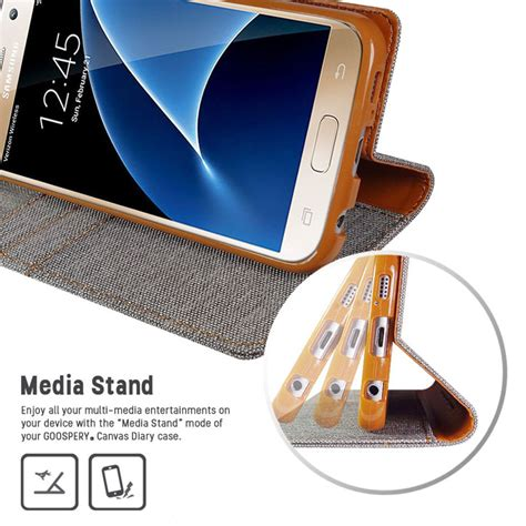 Goospery Mercury Fancy Diary Wallet Casing For Samsung Galaxy S7 Black 1 mercury canvas diary samsung galaxy s7 wallet grey