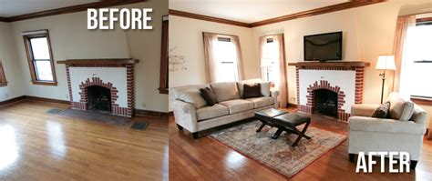 before and after staging home staging archives the san diego furniture rental
