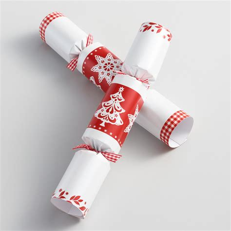 10 quot red and white christmas crackers 8 count world market