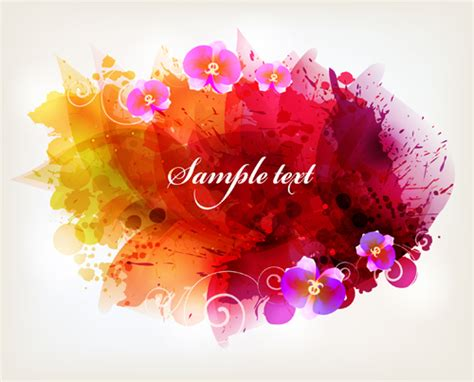 Car Wallpapers Free Psd Files Of Splashing by Splash Watercolor With Flower Background Vector Free