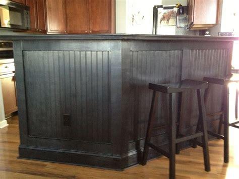 Black Wainscoting Kitchen Kitchen Bar The Black Beadboard Kitchen Chaos