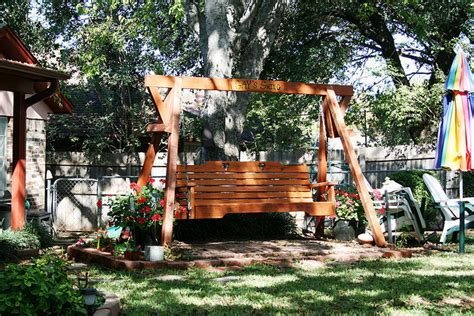 backyard swing adults outdoor furniture design and ideas