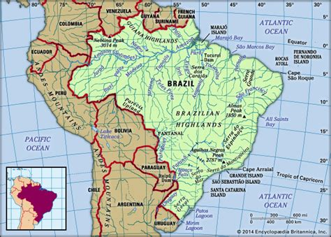 brazil physical map brazil history geography britannica