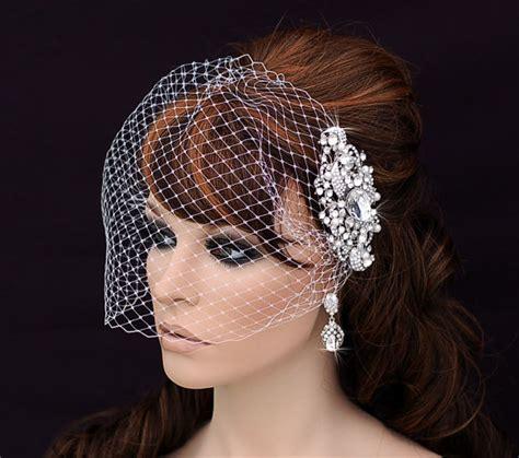 Wedding Hair Cage Veil by Comb And Birdcage Veil Bird Cage Veil Bridal