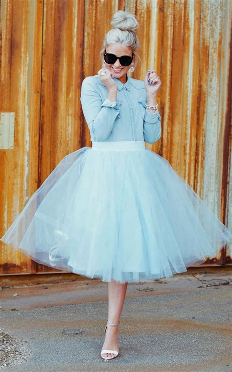wearing tulle skirts as an