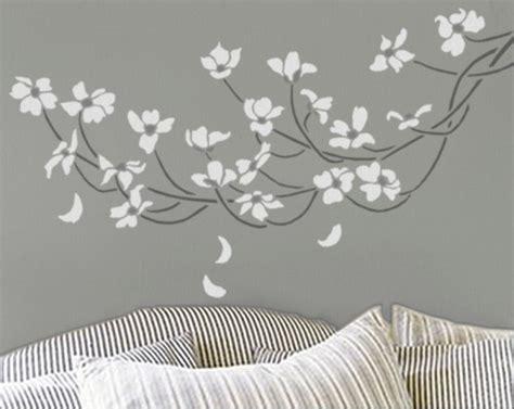 wall decoration stencils dogwood branch reusable wall stencil easy diy home