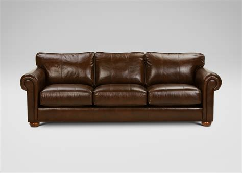 ethan allen leather sectional richmond leather sofa old english chocolate ethan allen
