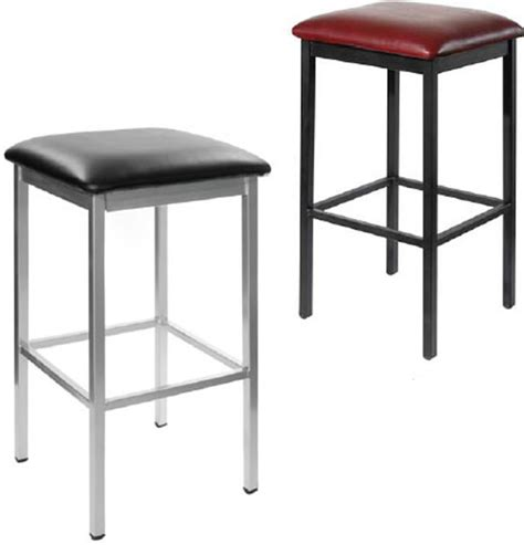 Square Metal Bar Stools by Backless Square Metal Stools F2510b Commercial Restaurant