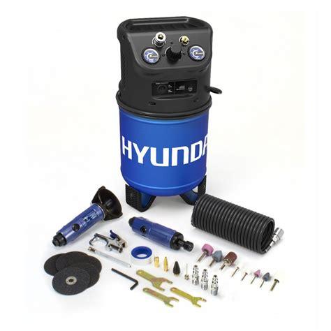 hyundai 3 gal portable electric air compressor with 4