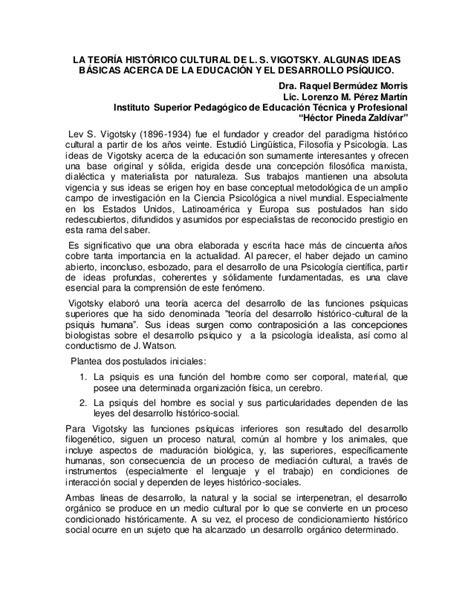 Modelo Curricular Historico Cultural La Teor 237 A Hist 243 Cultural De L
