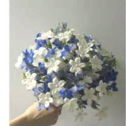 blue flowers for wedding blue wedding