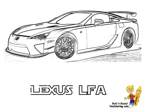 lexus lfa drawing lexus car coloring pages coloring pages