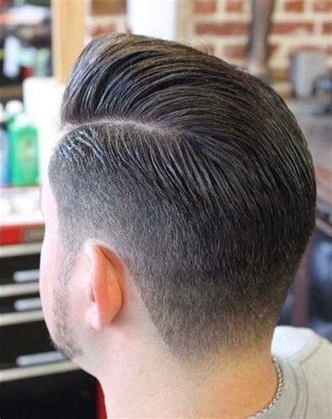 rockabilly rear view of men s haircuts mens fade hairstyles back view men s hair pinterest